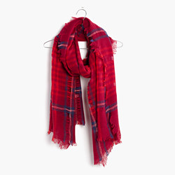 Cardinal Plaid Scarf