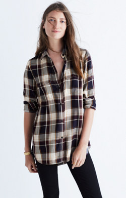 Classic Ex-Boyfriend Shirt in Hanna Plaid