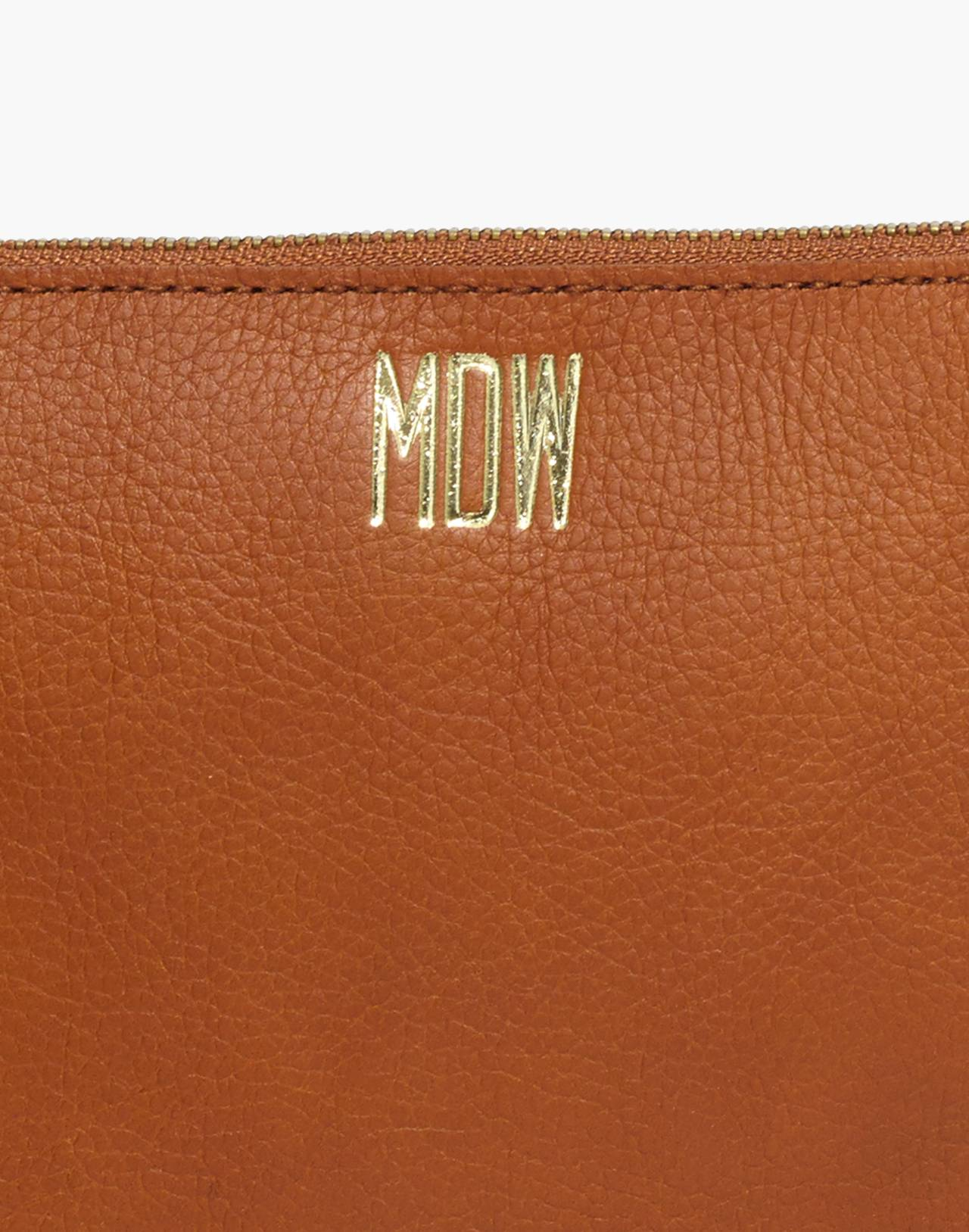 The Leather Pouch Clutch in english saddle image 4