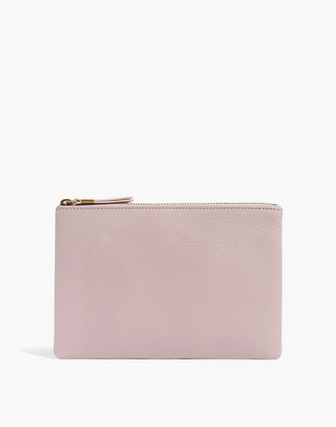 The Leather Pouch Clutch in wisteria dove image 1
