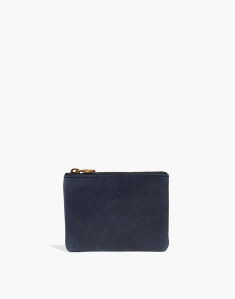 The Leather Pouch Wallet in deep navy image 1