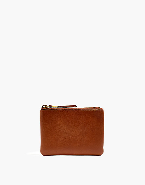 The Leather Pouch Wallet in english saddle image 1