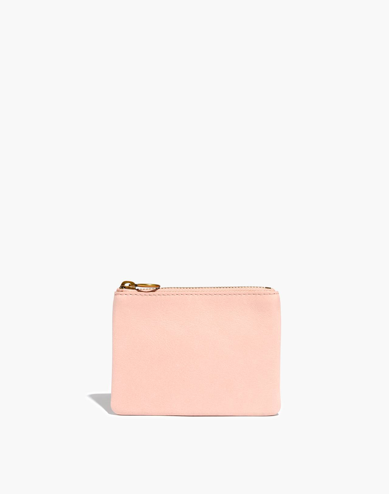 The Leather Pouch Wallet in sheer pink image 1