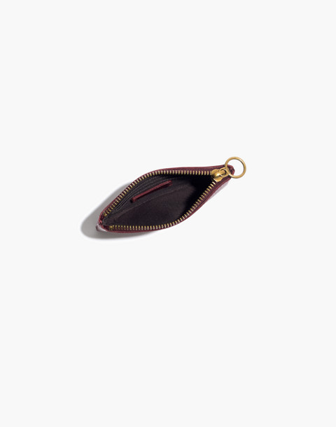 The Leather Pouch Wallet in dark cabernet image 2