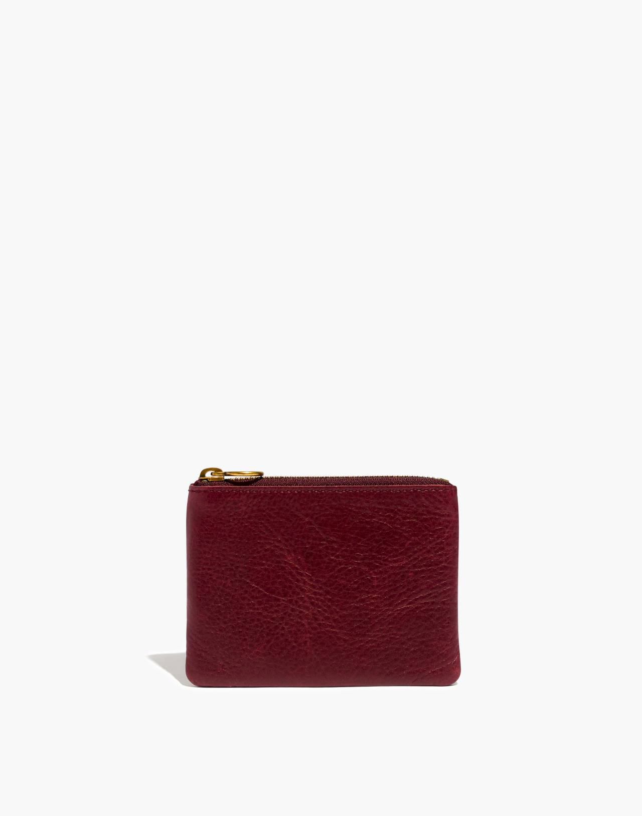 The Leather Pouch Wallet in dark cabernet image 1