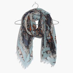 Concentric Paisley Square Scarf
