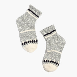 Marled Diamond Ankle Socks
