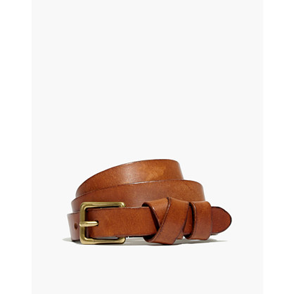 Leather Crisscross Skinny Belt