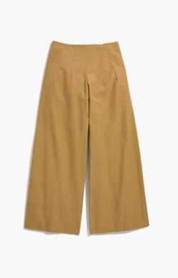 Caron Callahan™ Khaki High-Rise Wide-Leg Pants