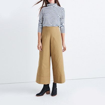 Caron Callahan™ Khaki High-Rise Wide-Leg Pants