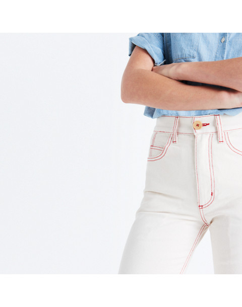 Caron Callahan™ Joni Five-Pocket Jeans in natural denim image 2