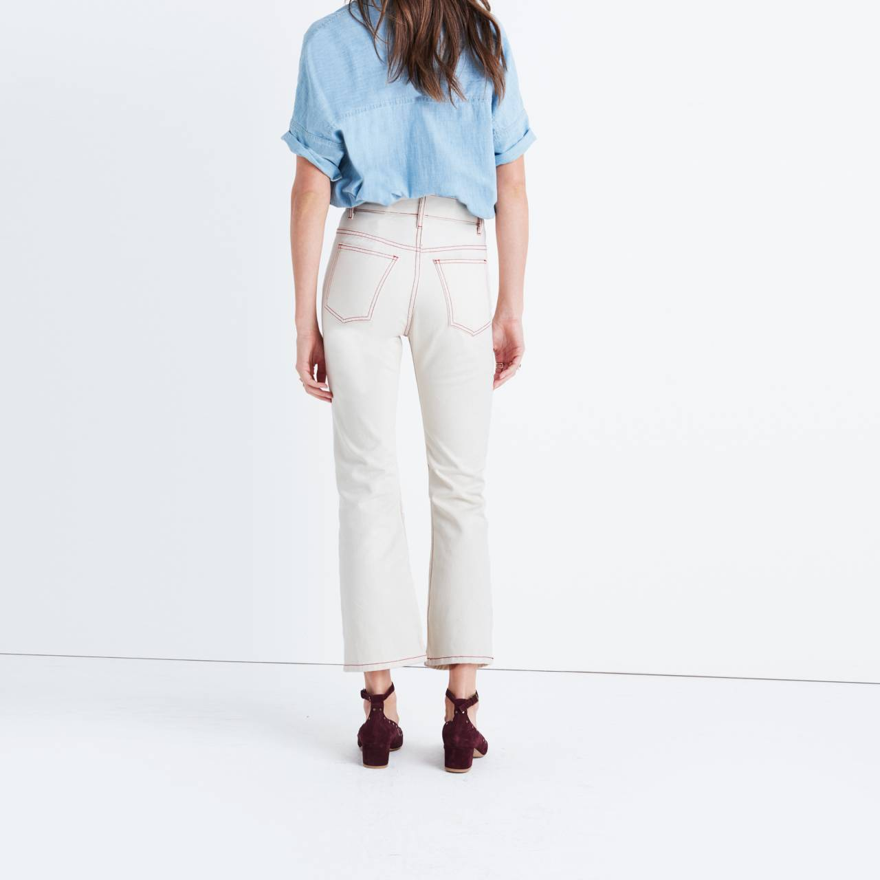 Caron Callahan™ Joni Five-Pocket Jeans in natural denim image 3