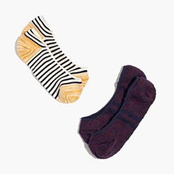 Two-Pack Striped Low Profile Socks