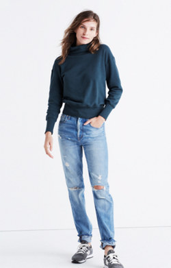 Rivet & Thread LA Turtleneck Sweatshirt: Garment-Dyed Edition