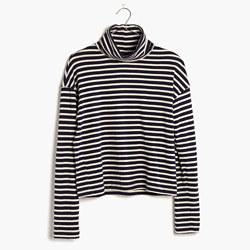 Rivet & Thread LA Crop Turtleneck: Striped Edition