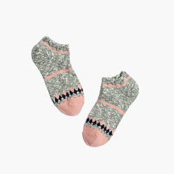 Marled Diamond Anklet Socks