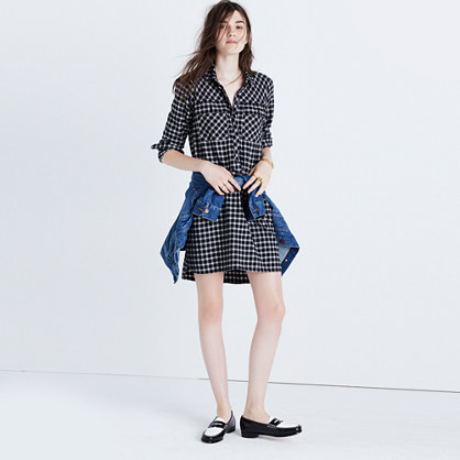 Daywalk Shirtdress in Hilldale Plaid
