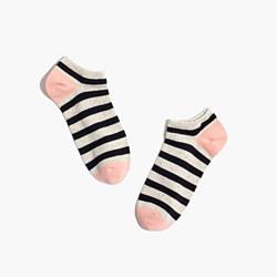 Striped Donegal Anklet Socks