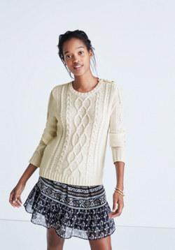 Madewell et Sézane® Marin Cable Sweater
