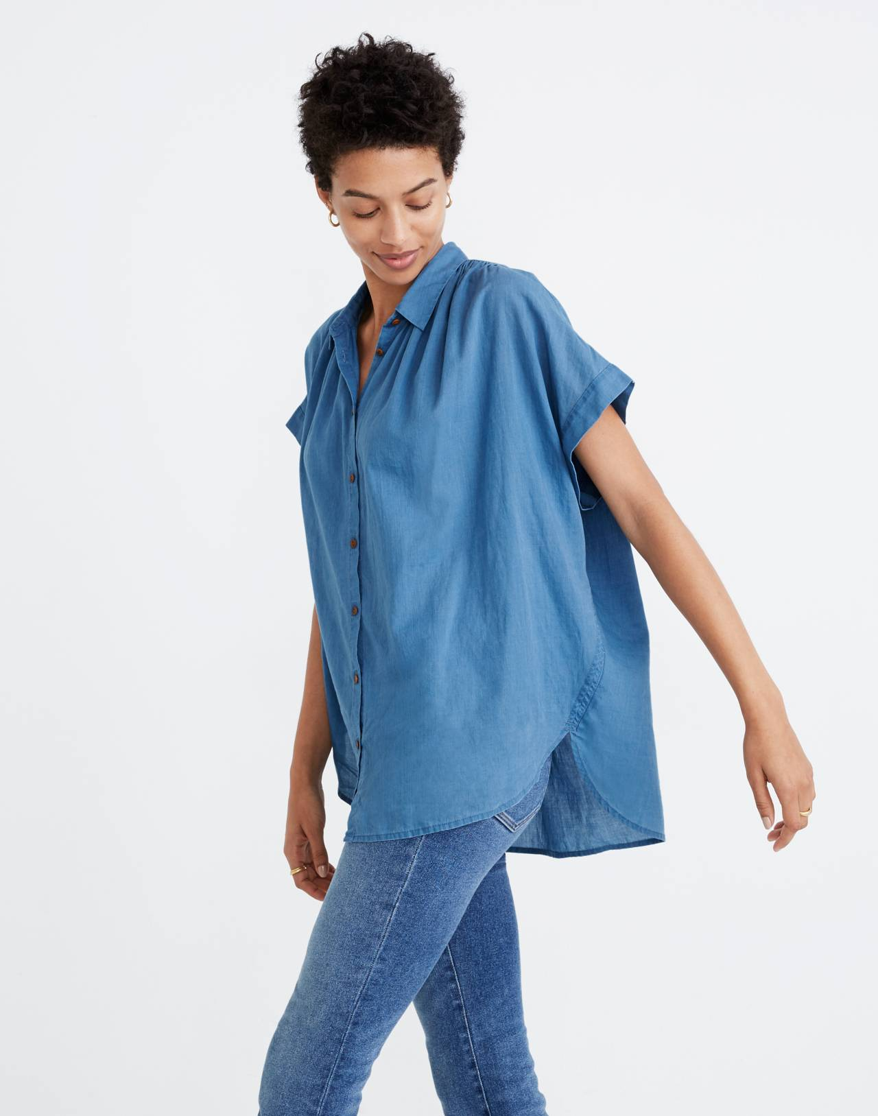 Central Shirt in Bright Indigo in bright indigo image 2