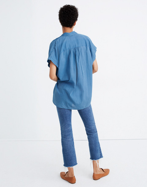 Central Shirt in Bright Indigo in bright indigo image 3
