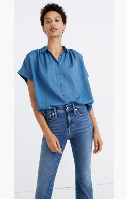 Central Shirt in Bright Indigo