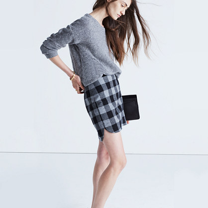 Shirttail Skirt in Plaid