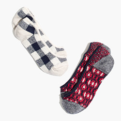Two-Pack Patchwork Pattern Low Profile Socks