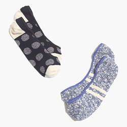 Two-Pack Jacquard Dot Low Profile Socks