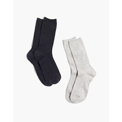 Two-Pack Ribbed Heather Trouser Socks