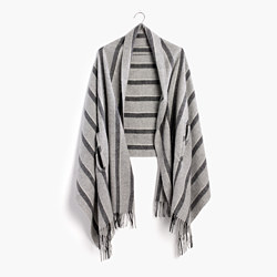 Cape Scarf in Vertical Stripe