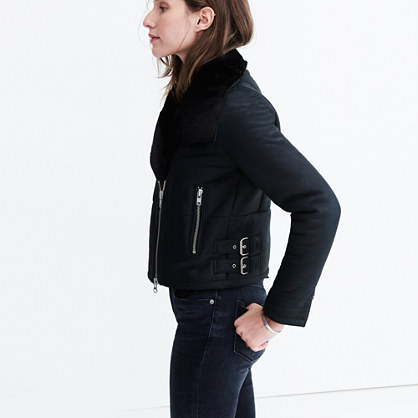 Shearling Motorcycle Jacket