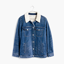 The Oversized Jean Jacket: Sherpa Edition