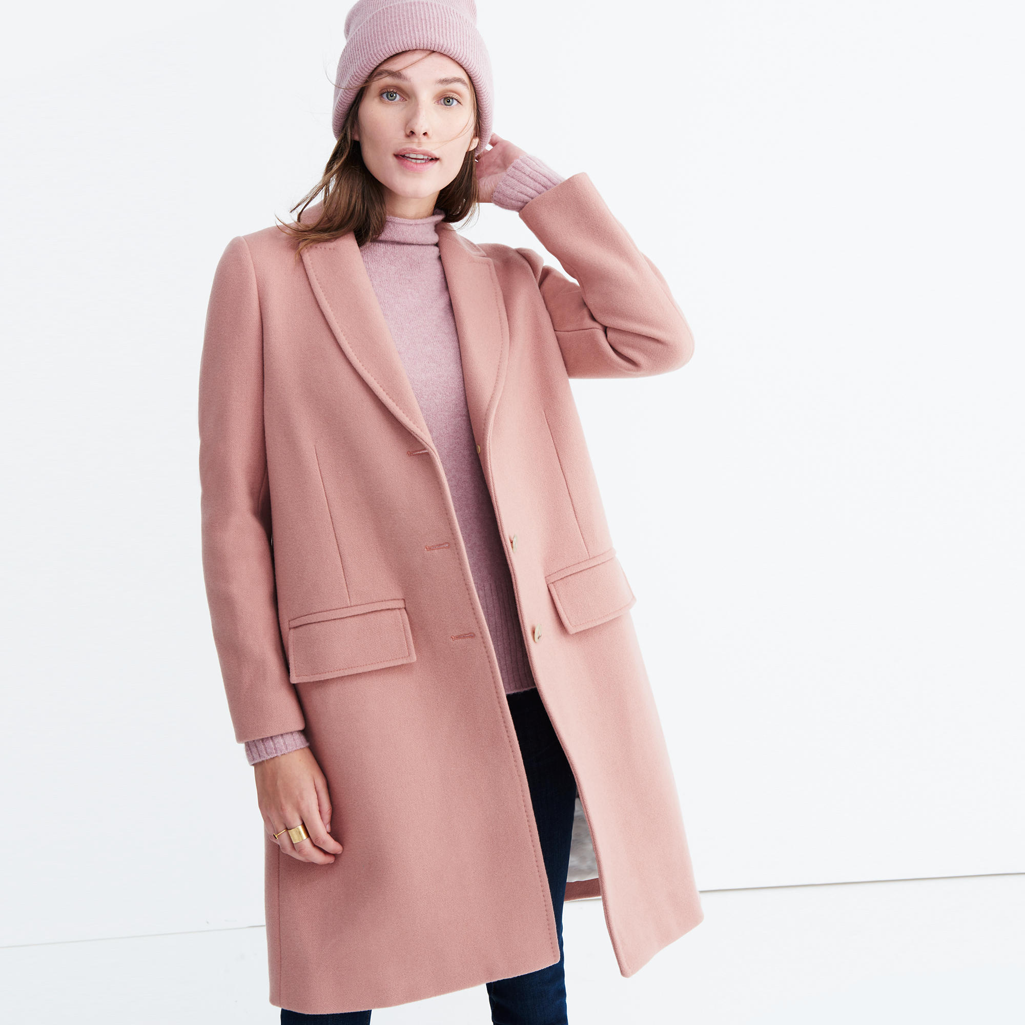 Teatro Swing Coat in Old Rose : coats | Madewell