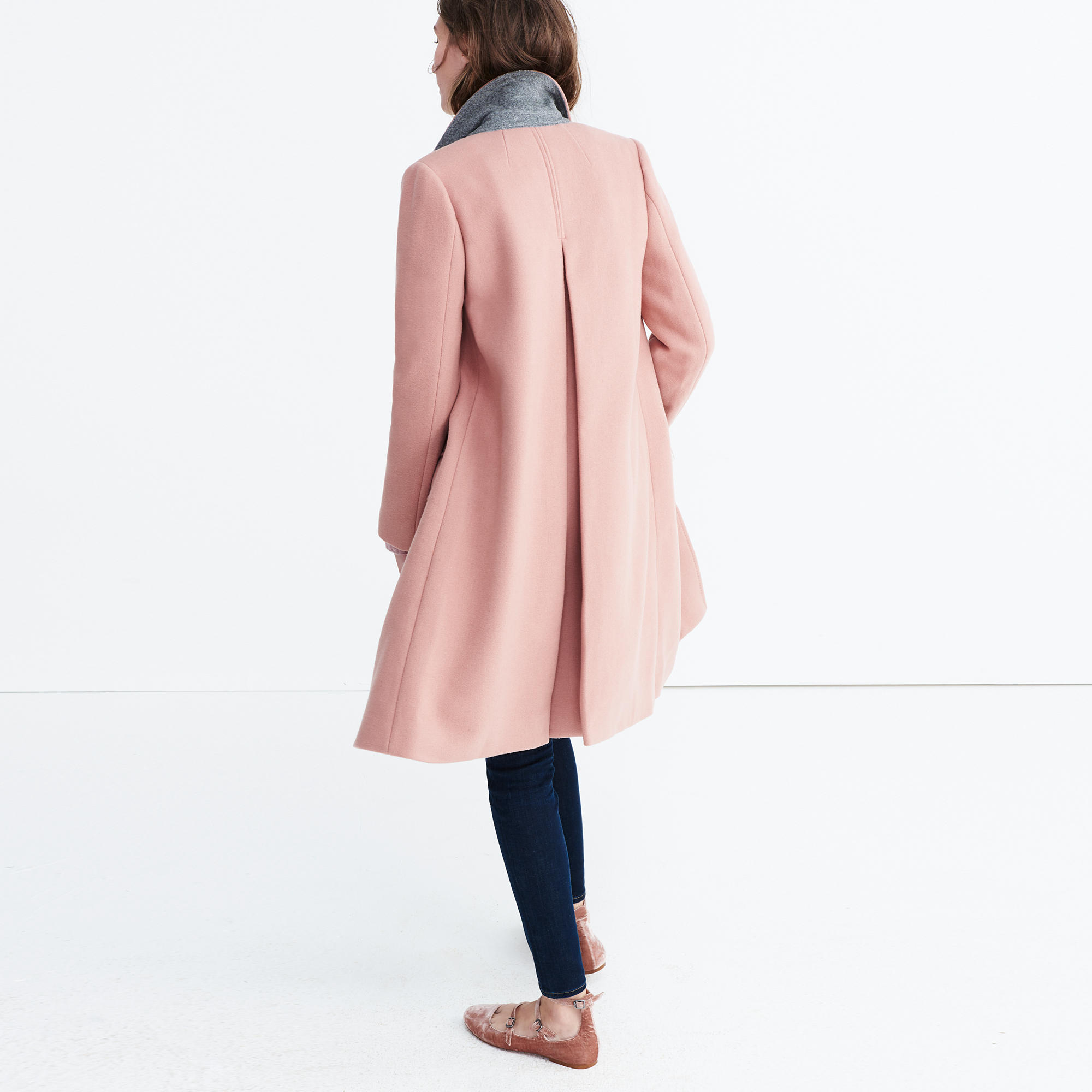 Teatro Swing Coat in Old Rose :   Madewell