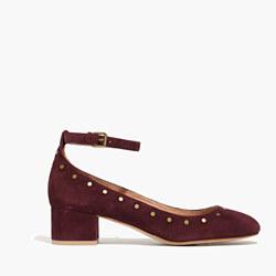 The Inez Stud Ankle-Strap Shoe