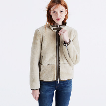 Plush Shearling Motorcycle Jacket