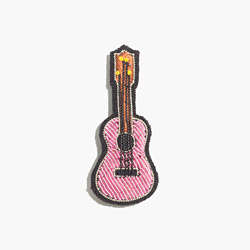 Macon & Lesquoy Hand-Embroidered Guitar Pin