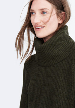 Cashmere Convertible Turtleneck Sweater