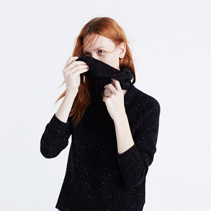Cashmere Convertible Turtleneck Sweater