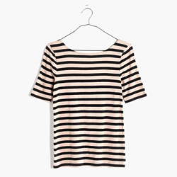 Chorus Scoop-Back Tee in Stripe