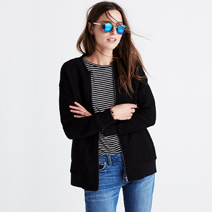 Textured Bomber Jacket : long-sleeve tees | Madewell