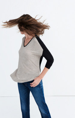 Anthem Long-Sleeve V-Neck Tee in Colorblock