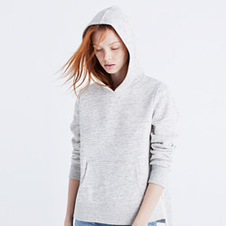 Side-Slit Hoodie Sweatshirt