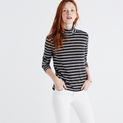 Whisper Cotton Turtleneck in Freddie Stripe