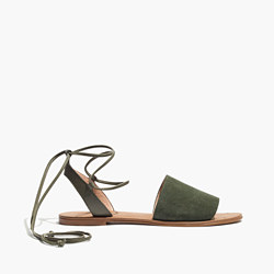 The Rena Lace-Up Sandal in Suede