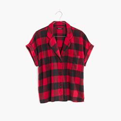 Flannel Bedtime Pajama Top in Buffalo Check