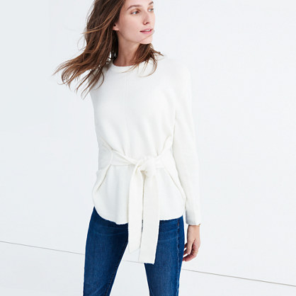 Tie-Front Wrap Sweater