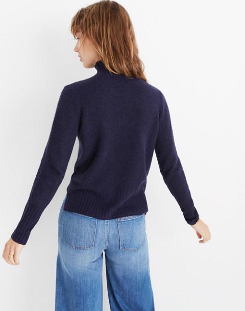 Inland Turtleneck Sweater in Coziest Yarn in dark ink image 3