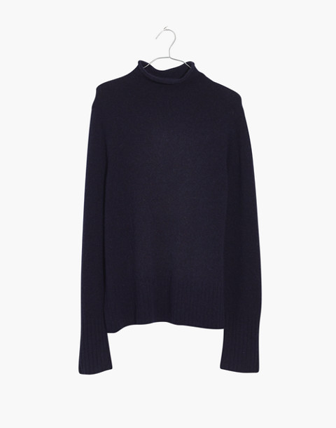 Inland Turtleneck Sweater in Coziest Yarn in dark ink image 4